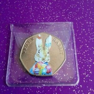CIRCULATED-EASTER-COLOURED-2016-PETER-RABBIT-50P-COIN-CIRCULATED