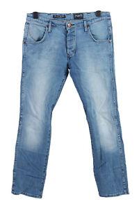 Vintage-Wrangler-Mid-Waist-Straight-Unisex-Denim-Jeans-w34-l31-mittelblau-j4