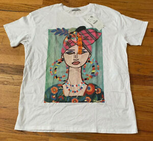 Zara-Blouse-Woman-Basic-Collection-Top-Shirt-Size-L-New-with-Tag-Colorful