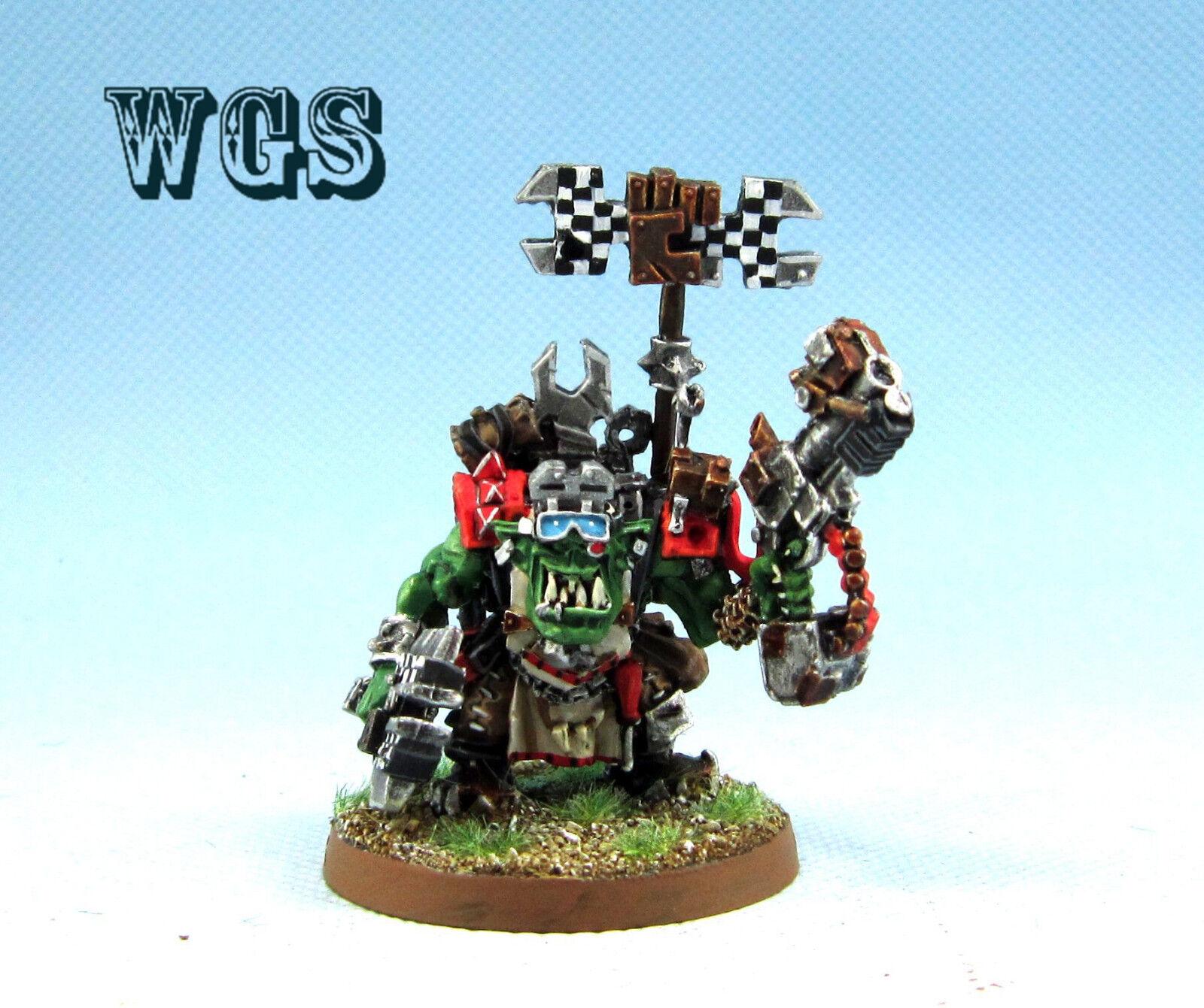 25 mm  Warhammer 40K WGS Peint ORKS Big Mek avec bosspole KOR001  venez choisir votre propre style sportif
