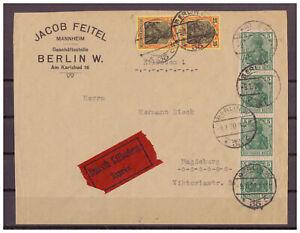 Deutsches-Reich-Eilbote-MiNr-85-II-a-88-II-b-KBS-Berlin-1920-geprueft-Jaeschke