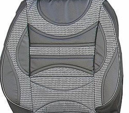 VW VOLKSWAGEN CADDY SEAT COVERS PREMIUM COMFORT PADDED FABRIC GREY BLACK FOR 2+1