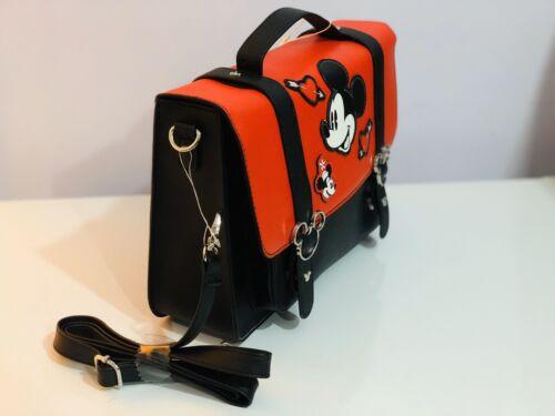 DISNEY Mickey Minnie Mouse Bag Satchel Crossbody Handbag Red Black Primark NEW