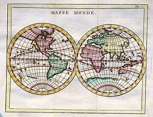 Antique map, Mappe Monde