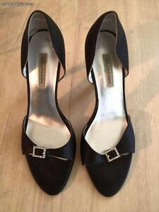 41cd4ee0b03 Anne Klein Women s Shoes Black Shoes Satin With Sparkle Buckle Heels ...