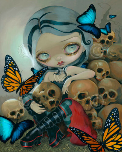ART PRINT Butterflies and Bones by Jasmine Becket-Griffith 14x11 Gothic Poster