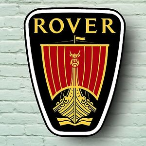 rover logo 2ft garage sign wall plaque classic car 45 75 mg 5mm plastic. Black Bedroom Furniture Sets. Home Design Ideas