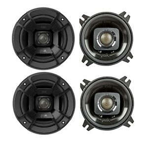 Set of 2 Black Polk Audio DB402 Outdoor Coaxial Home Speaker