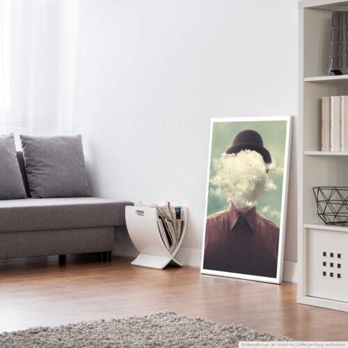 Fotocollage – Kopf in den Wolken 60x90cm Poster