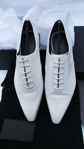 Women-039-s-Shoes-Leather-Brogues-Oxford-Lace-up-Smart-Work-Trend-UK6-White-Designer