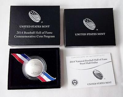 COA Best B36 2014 D Baseball Hall of Fame Uncirculated Half Dollar US Mint Box