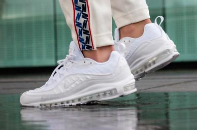 "Nike Air Max 98 ""White//Pure Platinum"" ~ 640744 106 ~ Uk Size 9"