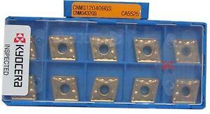 10PCS-Box-KYOCERA-CNMG120408GS-CA5525-CNMG432GS-Carbide-Inserts-New-In-Box