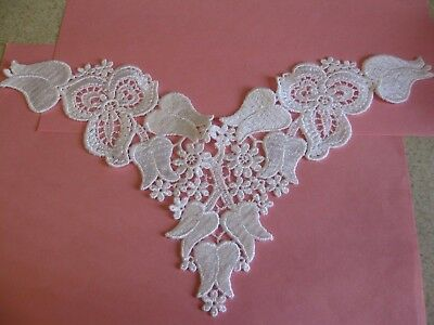 10yd White Embroidered Net Floral Lace Trims Wedding Bridal Ribbon Sewing Crafts