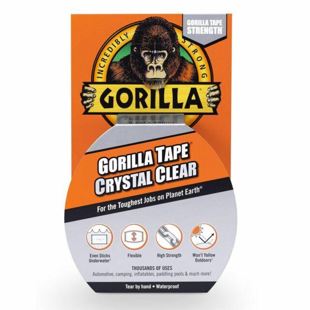 Gorilla Tape Crystal Clear 8.2m x 48mm