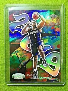 ZION-WILLIAMSON-CERTIFIED-GRAFFITI-ROOKIE-CARD-JERSEY-1-PELICANS-RC-2019-20-SSP