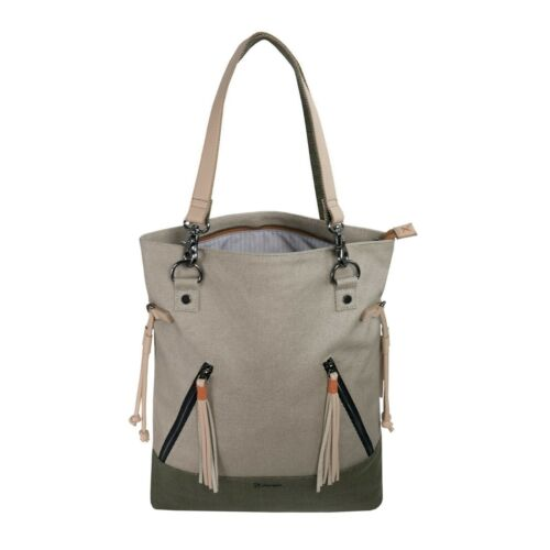 Sherpani Tempest Backpack//Tote in Natural//Moss