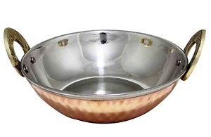 Hammered-Copper-Stainless-Steel-Serveware-Accessories-Karahi-Serving-Bowl