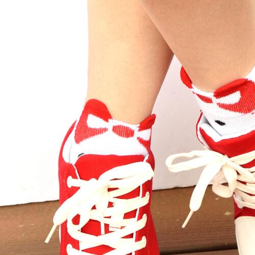 6 pairs Women Girls Polka Dot Bow Ankle Socks