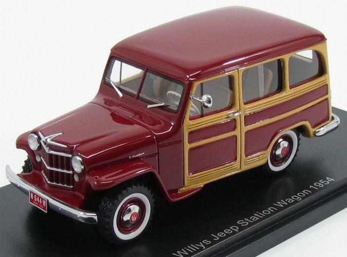 Jeep Willys Station Wagon 4x4 1954 Dark Red Red Red Brown NEO44644 1 43 43169a