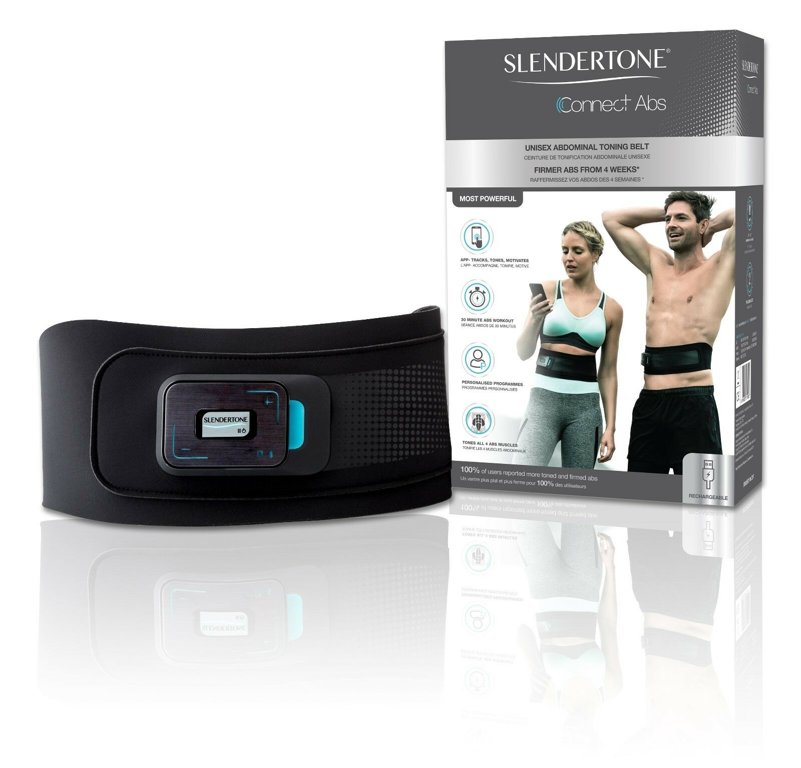 Slendertone conectar ABS Unisex-  aplicación basada Toning Belt