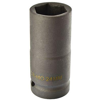"1/"" Drive Metric Deep Impact Socket 24mm Hex 3.5/"" length"