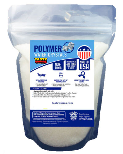 4 lbs Large Water Absorbing Polymer Crystals Soil Moist Cricket Made in USA