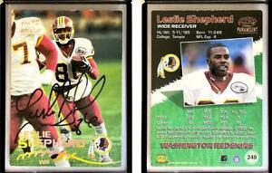 Leslie Shepherd Signed 1998 Paramount #249 Card Washington Redskins Auto Autogra