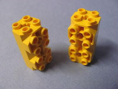 Lego 2x Wedge 4x4 slope pente rock roche trans orange transparent 64867 NEUF
