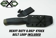 "Heavy Duty 0.093"" Thick Kydex Sheath for Mora Companion Heavy Duty-Robust, BLACK"