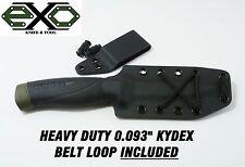 """Heavy Duty 0.093"""" Thick Kydex Sheath for Mora Companion Heavy Duty-Robust, BLACK"""