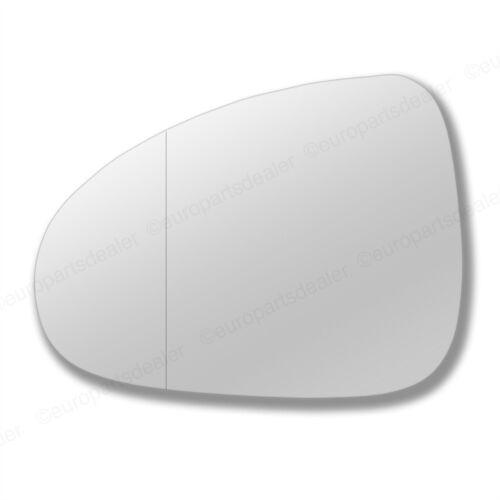 Ala Del Lado Del Pasajero Gran Angular Puerta Espejo Cristal Para VW Touareg 2010-On pegar en