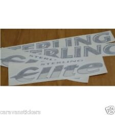 STERLING Elite - (STYLE 1)(CHROME) - Roof & Name Sticker Decal Graphic - SET OF