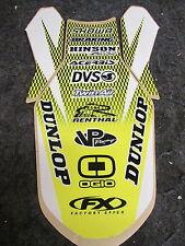 Suzuki RMZ450 2005-2007 Factory FX rear fender graphic decal GR1251
