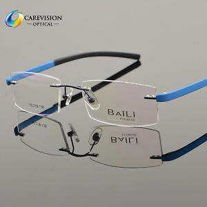 18c03a8b2b Image is loading New-Fashion-Rimless-Glasses-Frame-Women-Men-Eyeglasses-.  Image not available Photos not available for this variation