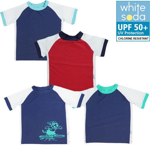 New Boys Rash Vest Swim Top TogsProtective UPF 50 Chlorine Resistant Size 1-7
