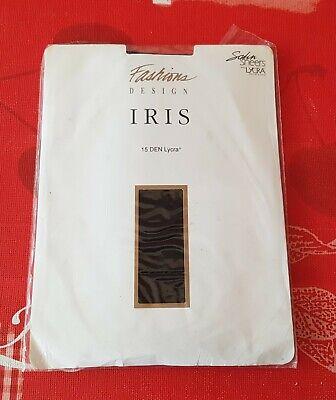 102i) Fashions Design Iris Collant Tg 4 15 Il Lycra Nero Nuovo & Ovp-mostra Il Titolo Originale