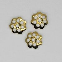 Bead Cap 6mm Open Floral Style Goldtone Pack Of 80