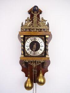 Zaanse Warmink Dutch Gong Wall Clock Vintage Antique