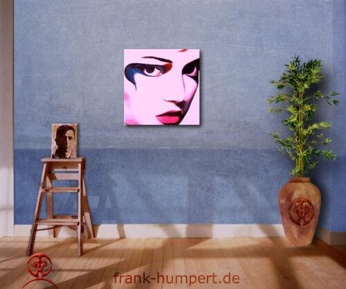 ☆DIANA ☆ auf Leinwand Akt Frau Gesicht pink moderne Kunst Bilder Wandbilder Art