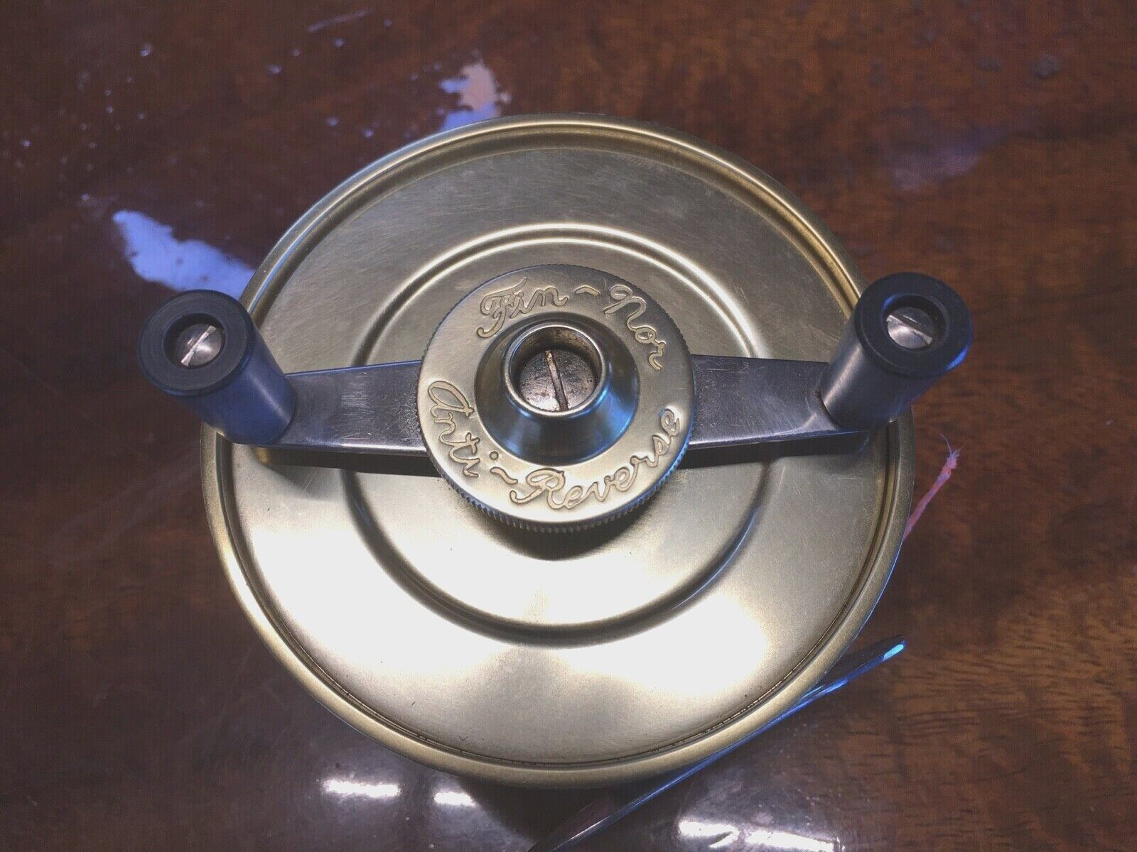 classeic Fin Nor  4 AntiReverse Fly Reel in Original scatola  OldSchool Quality.
