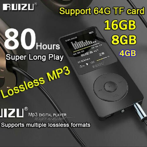 16GB 8G 4G RUIZU X02 Sport Mini Lossless HIFI MP3 Music Player With FM Radio GR