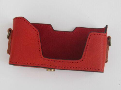 Cuero Leica Minilux//Minilux Zoom Rojo mitad Case-totalmente Nuevo