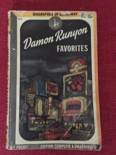 DAMON RUNYON FAVORITES with a Walter Winchell foreword 1945 Pocket Books pb