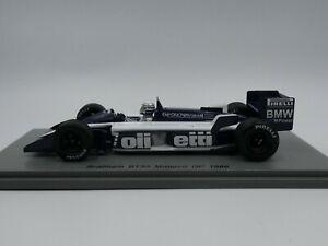 Spark 1:43 Riccardo Patrese Brabham Bt55 Monaco F1 F1 1986 S4349 Résine Nouveau