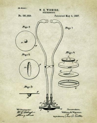 Medical Doctor Patent Poster Art Print Surgeon Nurse Instruments Gifts PAT312