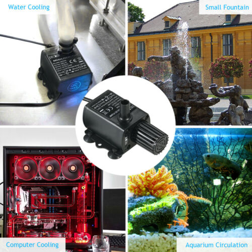 Decdeal USB DC5V 2.4W 4.8W Ultra-leise mini bürstenlose Wasserpumpe A6E7