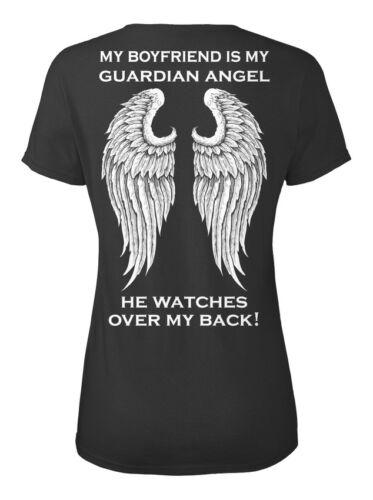 Boyfriend S et T-shirts-NA ma est Ange Gardien il Standard T-shirt femme