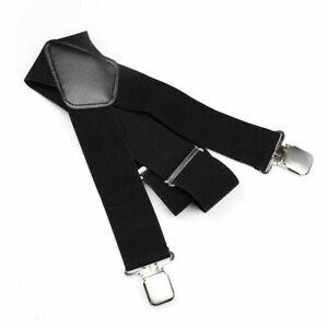 Elastic Belt Suspenders Adjustable Y Shape Braces Clip Elastic Suspenders F/&F D