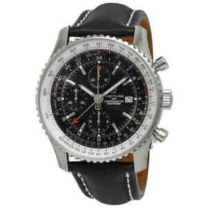 Breitling Navitimer Chronograph Automatic Chronometer Black Dial Men's Watch